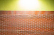 canvas print picture - Brick wall and yellow wall texture.