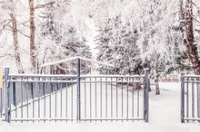 Metal Fence With Entrance Gate...