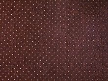 Brown Frame Texture With White Polka Dots - Lines With Symmetrical White Polka Dots