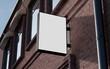 Leinwanddruck Bild - Blank, outdoor signage, signboard mockup, sign. 3d rendering