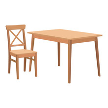 Wooden Table And Chair.