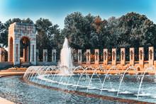 Washington, USA, Monument To National World War II Memorial.