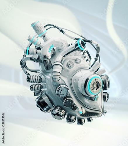 Photo Robotic heart, 3d rendering