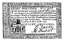Paper Money, Eight Shillings B...