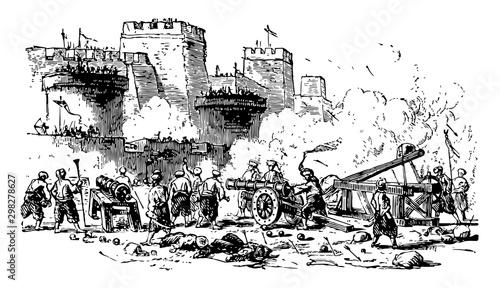 Cuadros en Lienzo Constantinople, vintage illustration.