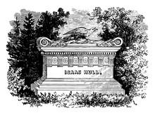 Isaac Hull's Monument Vintage Illustration