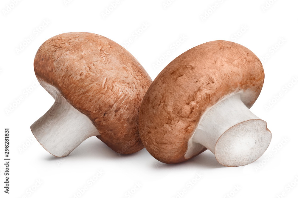 Fototapety, obrazy: Delicious champignon mushrooms, isolated on white background