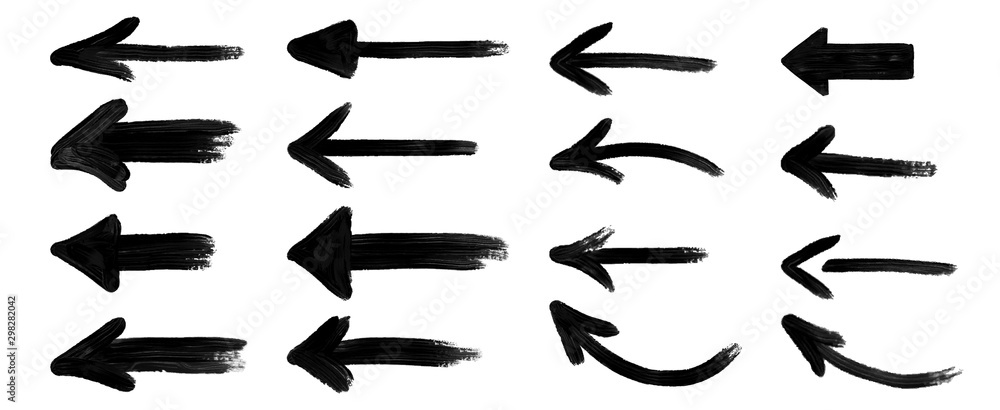 Fototapeta grunge arrow vector. grunge arrow brush.grunge arrow paint
