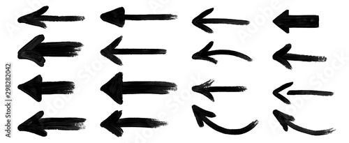 Obraz grunge arrow vector. grunge arrow brush.grunge arrow paint - fototapety do salonu