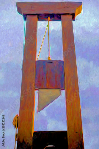 tableau. La guillotine Canvas Print
