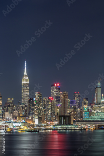 Fototapety, obrazy: Sunset and night view of Manhattan, cityscapes of New York, USA