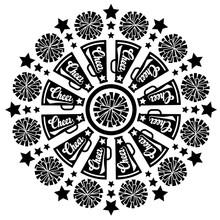 Mandala Cheer Vector Files. Po...