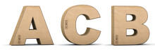 Cardboard Texture Letters A, B...
