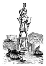 Colossus At Rhodes, Vintage Il...