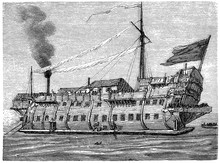 Prison Ship: Often A Moored Vessel Modified To Become A Place Of Detention For Convicts And Civilians In 17th - 19th Century