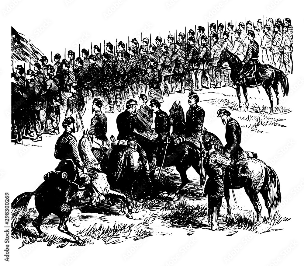 Fototapeta Battle of Malvern Hill vintage illustration