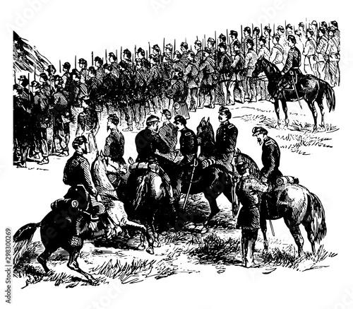 Fotomural Battle of Malvern Hill vintage illustration
