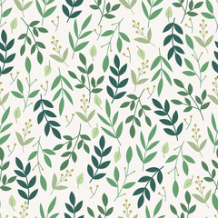Botanical seamless pattern. Floral background.