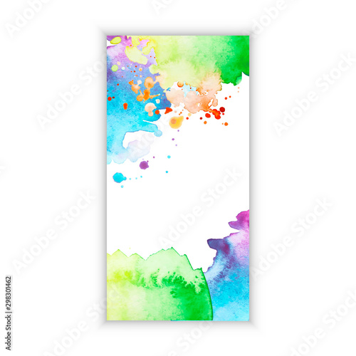 Poster Abstract wave Watercolor design banner. Promotion web template.
