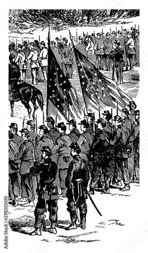 Cuadros en Lienzo Battle of Malvern Hill vintage illustration