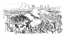 Battle At Big Black River Vintage Illustration