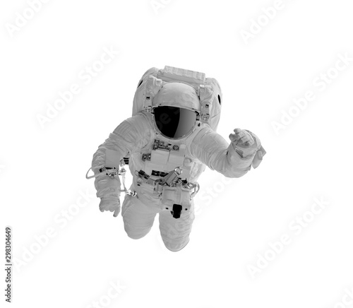 Astronaft in a spacesuit isolated on white background. Canvas Print