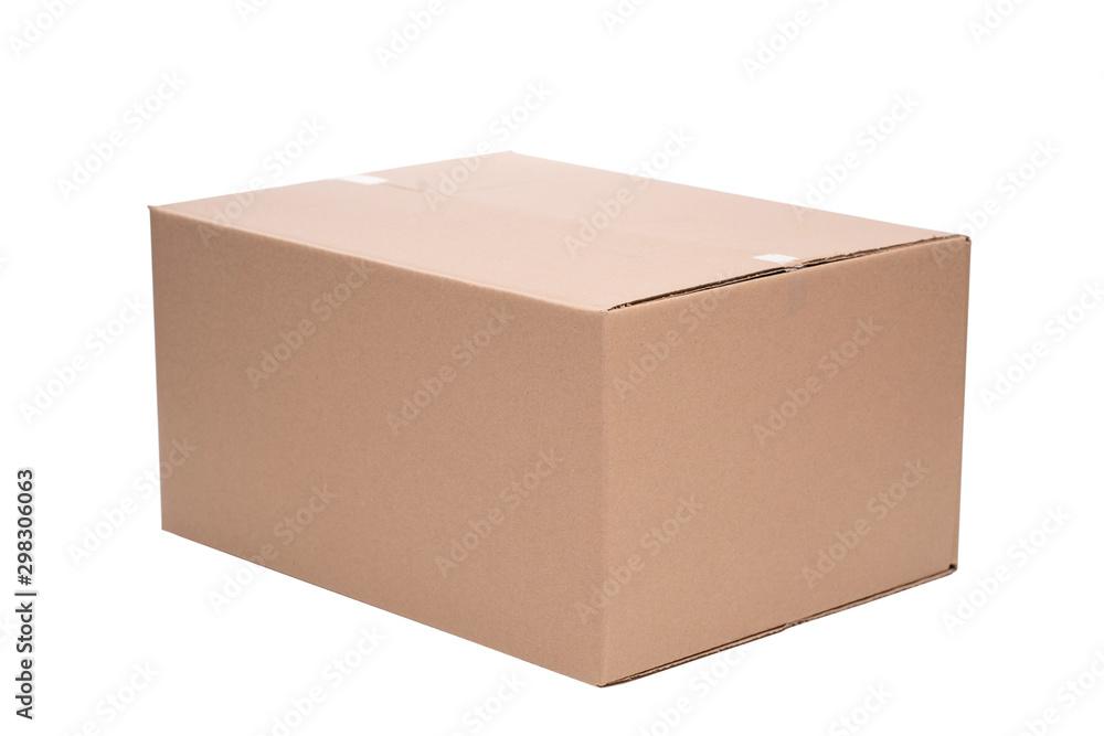 Fototapety, obrazy: Pudełko opakowanie kartonowe na białym tle