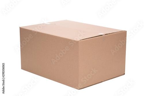 Fotografía  Pudełko opakowanie kartonowe na białym tle