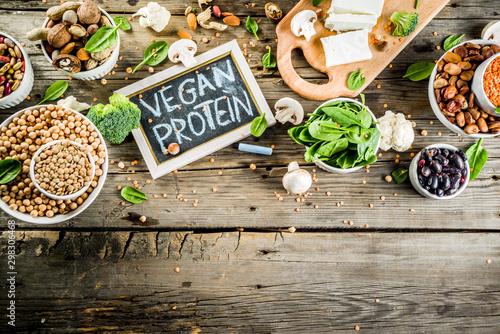 Vegan plant protein sources Canvas Print
