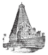 Temple Of Tanjore, Vintage Ill...