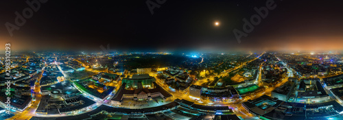 City of Kassel Germany 360° air-nightpano