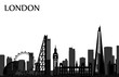 Cityscape with all famous buildings. Skyline London city composition for design