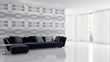 Leinwanddruck Bild - large luxury modern bright interiors room illustration 3D rendering