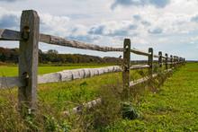 Split Rail Fencing Along Pasture