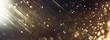 Leinwandbild Motiv background of abstract glitter lights. gold and black. de focused. banner