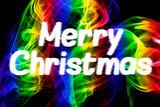 Fototapeta Sport - Merry Christmas Abstract Smoke Background