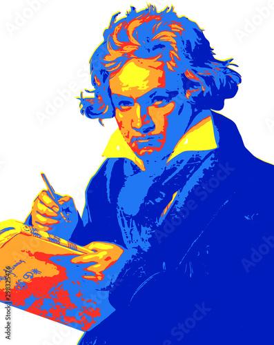 Ludwig van Beethoven Wallpaper Mural
