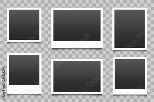 Obraz Photo frame with shadow set. Vector - fototapety do salonu