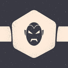 Grunge Vampire Icon Isolated O...