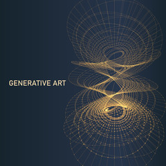 Generative art abstract background element