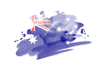National Flag Of Australia. St...