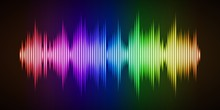 Colorful Sound Wave Background