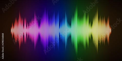 Colorful sound wave background Canvas Print