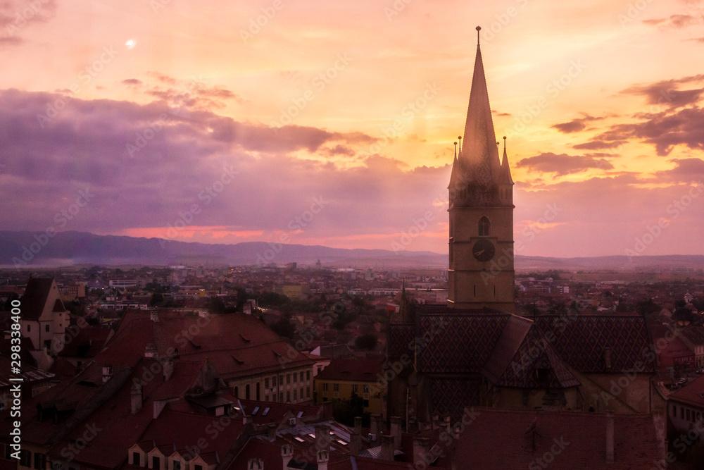 Cityscape of Sibiu (Romania, Europe)