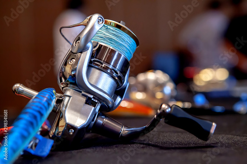 Tackle with colorful fishing lures Fototapet