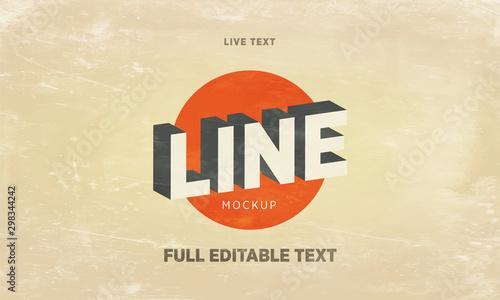 Fotografiet  vintage Text Effect Mockup  Full Editable