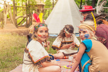 Germany, Saxony, Indians And C...