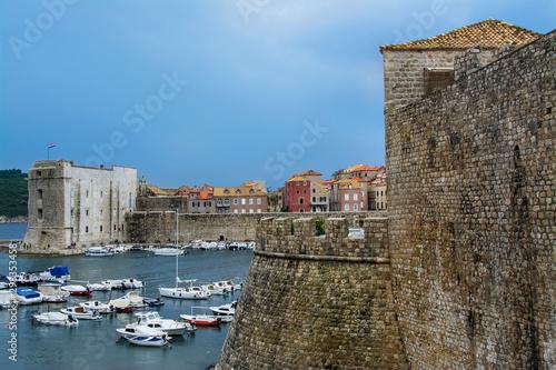 Fototapeta mury starego miasta Dubrownik, Chorwacja obraz