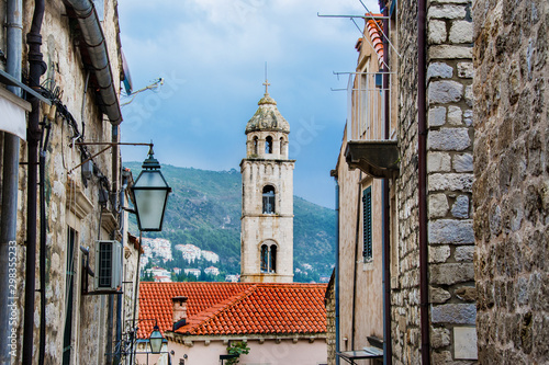 stare miasto Dubrownik, Chorwacja, wieża - fototapety na wymiar
