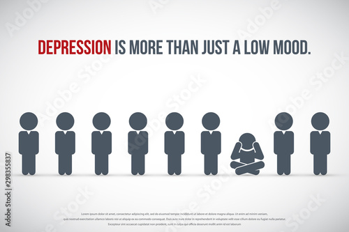 Photo Depression is more than just a low mood. Depression Concept